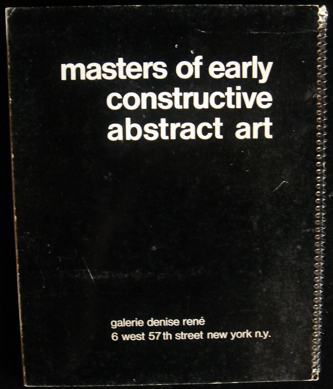 MASTERS OF EARLY CONSTRUCTIVE ABSTRACT ART, by Denise Rene Gallery - 1971