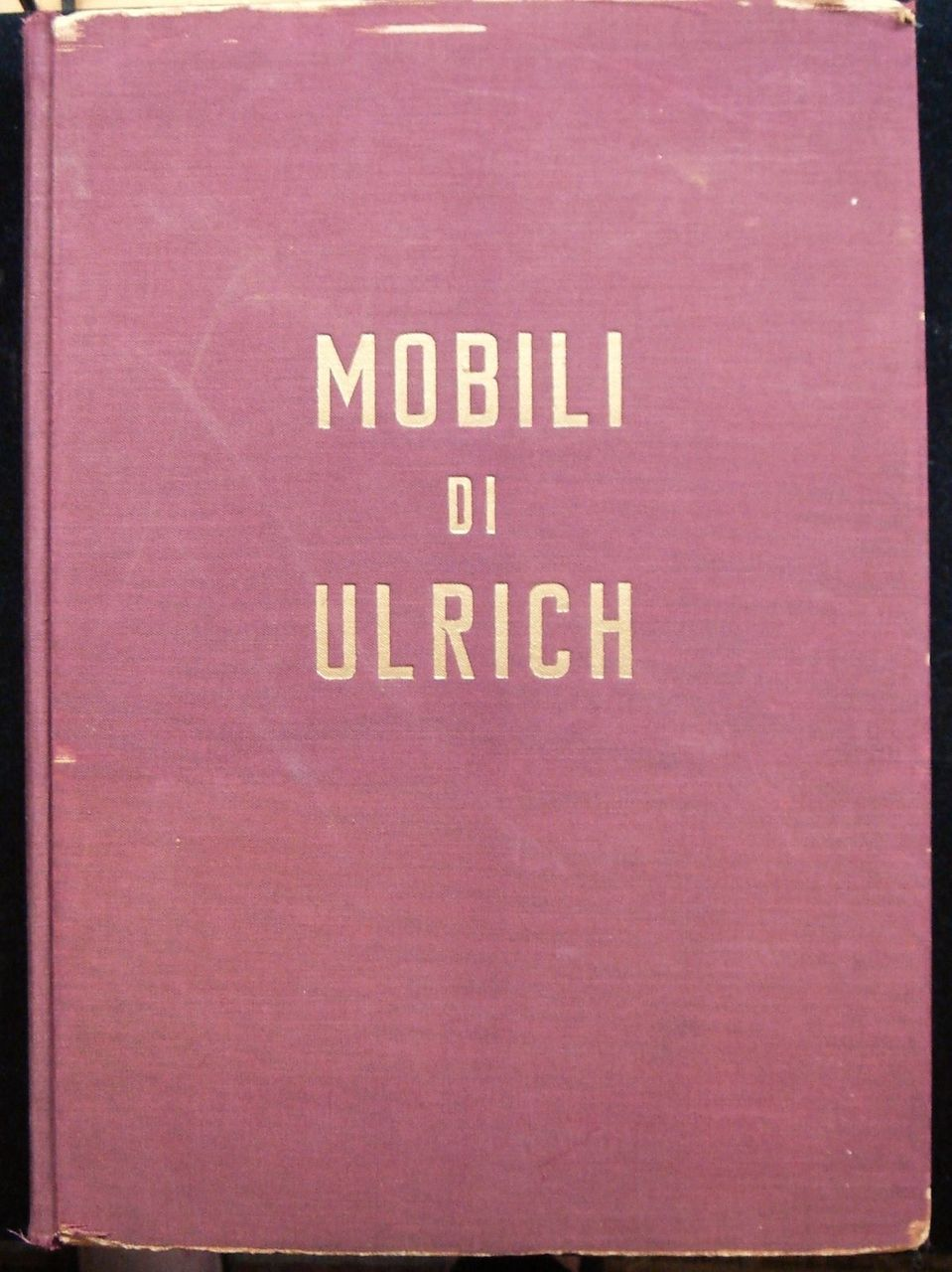 MOBILI DI ULRICH, by G. Morazzoni - 1945 [Signed]
