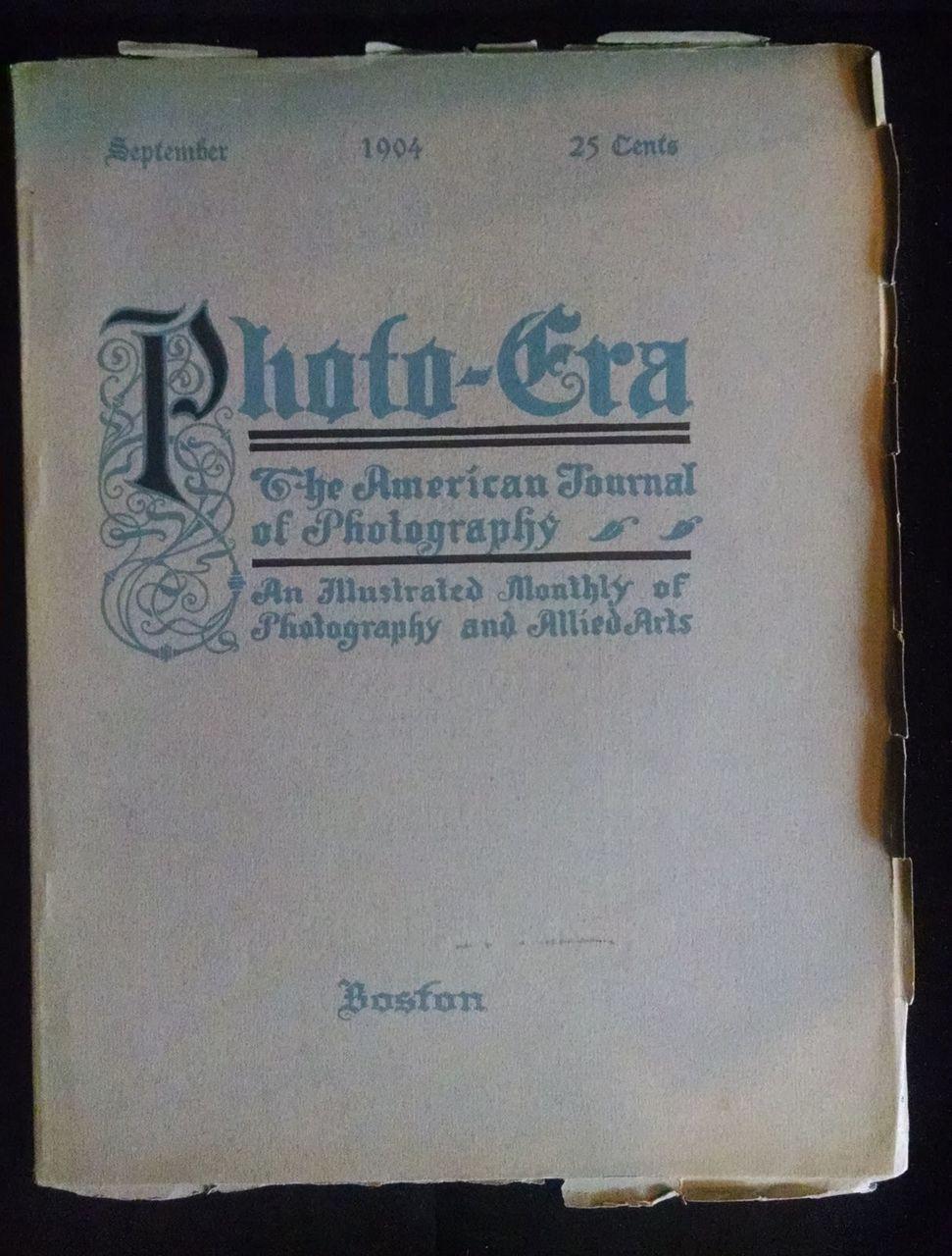 PHOTO-ERA September 1904 Photograph Illustrated Art Journal Photography
