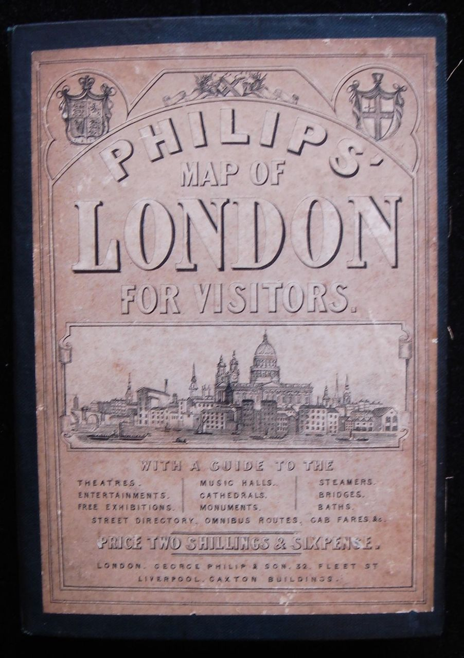 PHILIPS' MAP OF LONDON FOR VISITORS, by George Philip - 1874