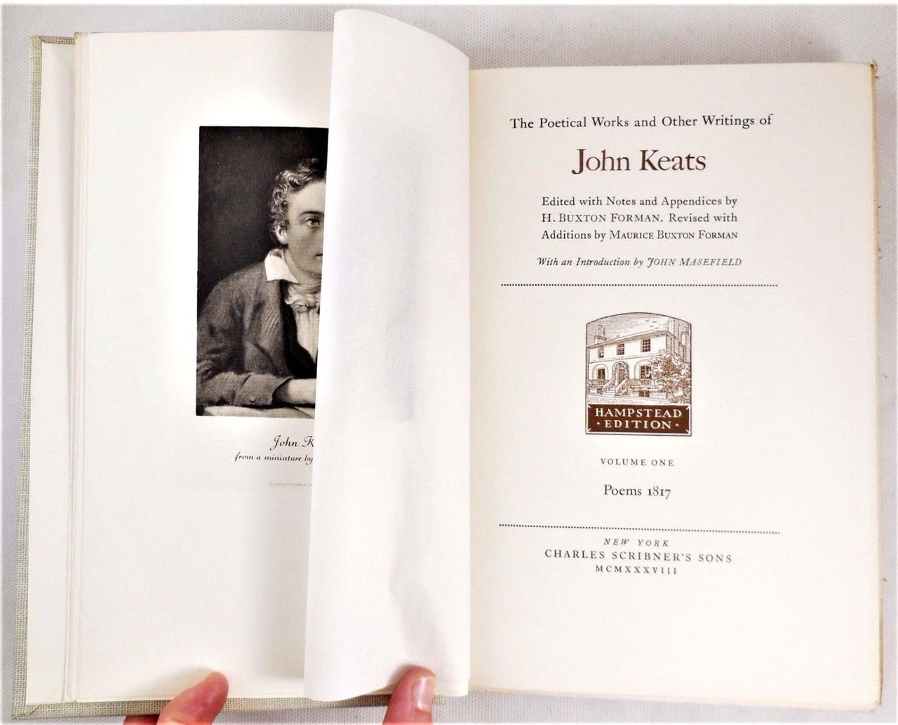 POETICAL WORKS & OTHER WRITINGS OF JOHN KEATS - 1938-39 [8 vols, Ltd Ed: 735/1050]
