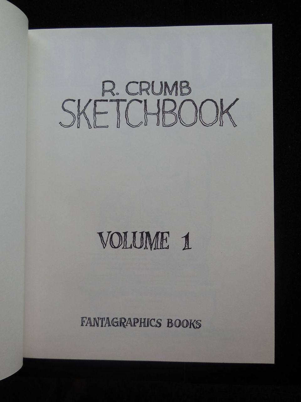 R. CRUMB SKETCHBOOK of Comic Satire 1964-1965 [Vol 1] American 1992 HB Scarce