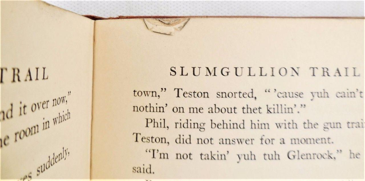 SLUMGULLION TRAIL, by Tevis Miller - 1935