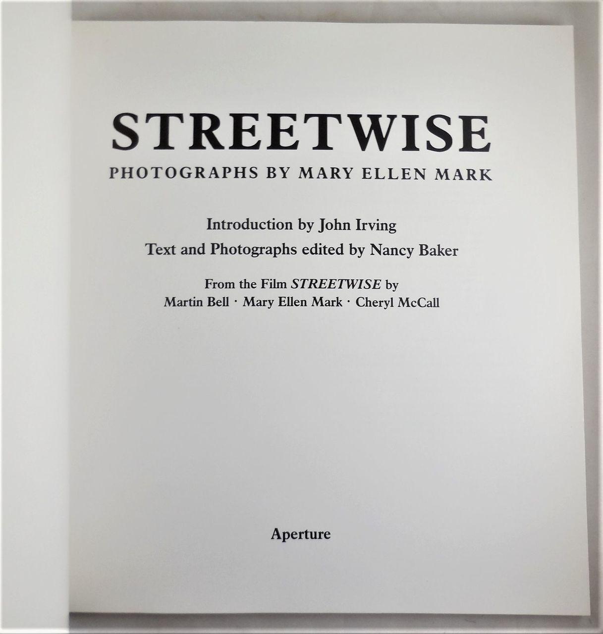 STREETWISE, by Mary Ellen Mark - 1988