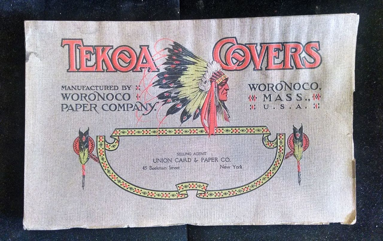 TEKOA COVERS, by Woronoco Paper Company - 1907