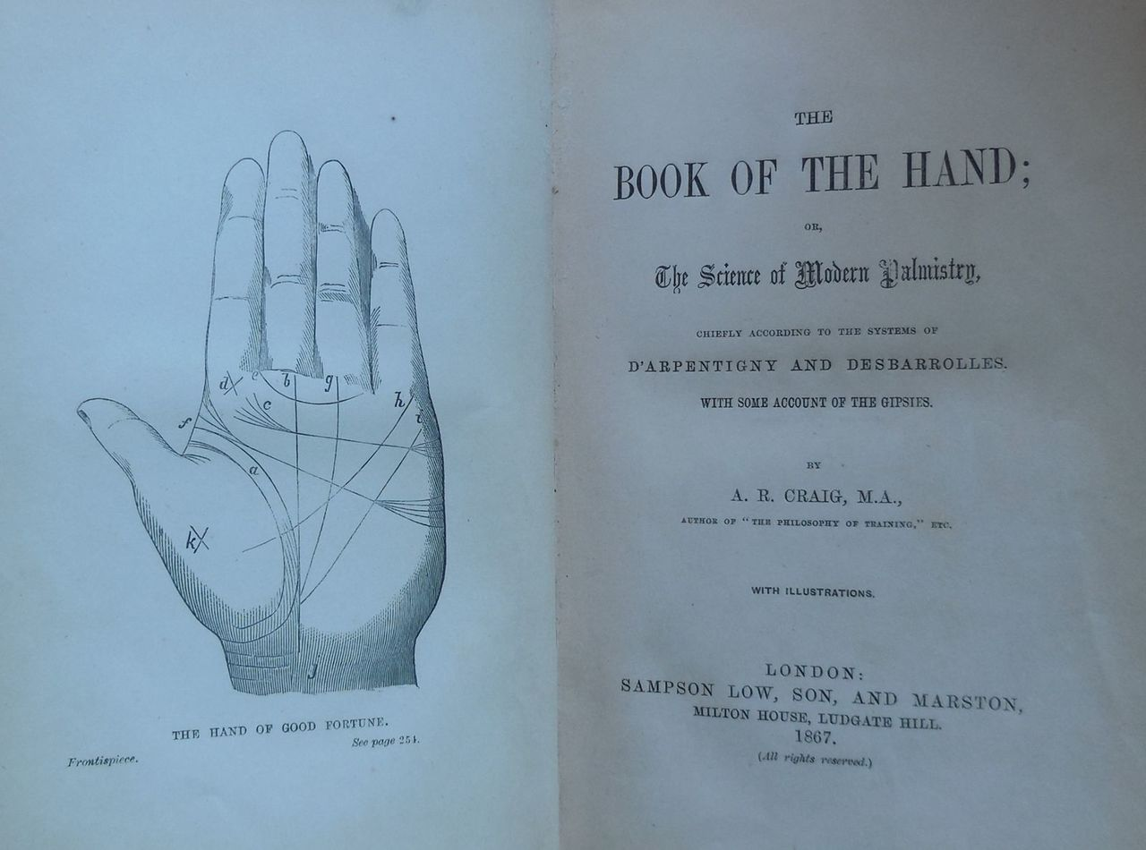 THE BOOK OF THE HAND, by A.R. Craig - 1867 Palmistry Desbarrolles