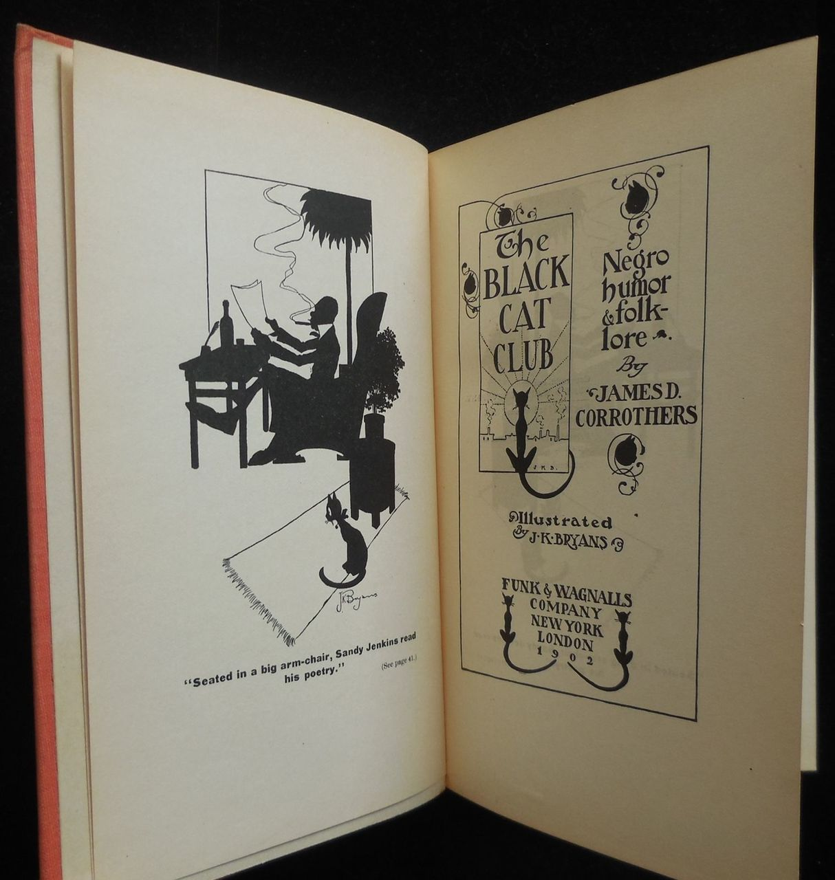 THE BLACK CAT CLUB: NEGRO HUMOR AND FOLKLORE Corrothers 1902 Black Americana