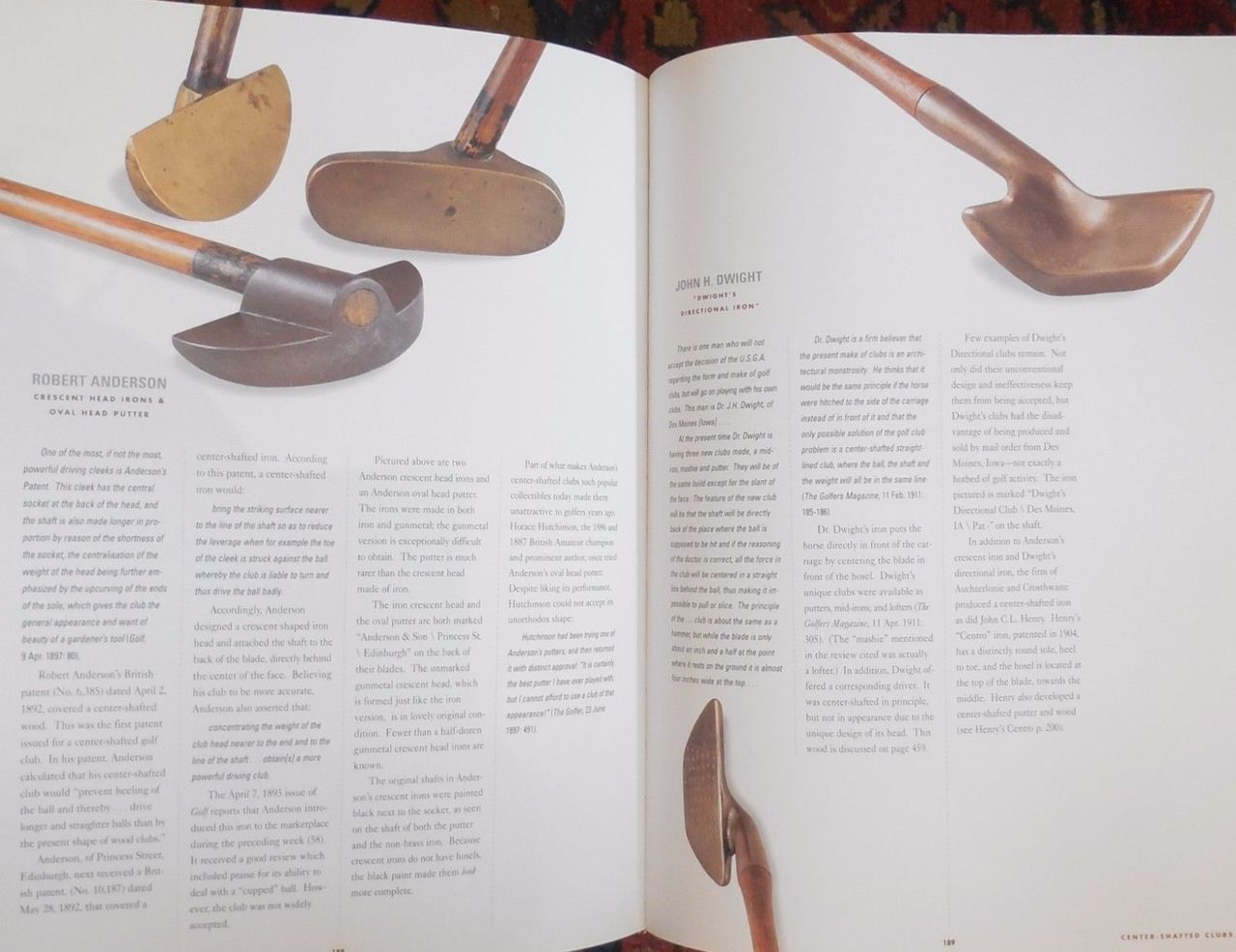 THE CLUBMAKER'S ART: ANTIQUE GOLF CLUBS & THEIR HISTORY - 1997 [1st Ed]