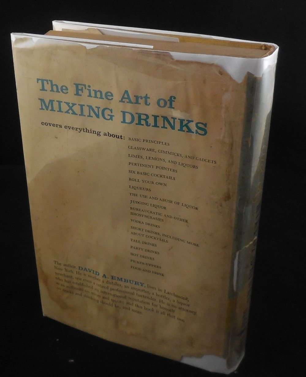 THE FINE ART OF MIXING DRINKS, by David A. Embury - 1958 [3rd Ed]