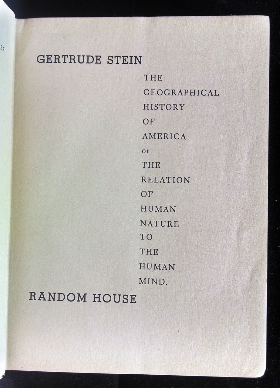 THE GEOGRAPHICAL HISTORY OF AMERICA 1936 1st Printing