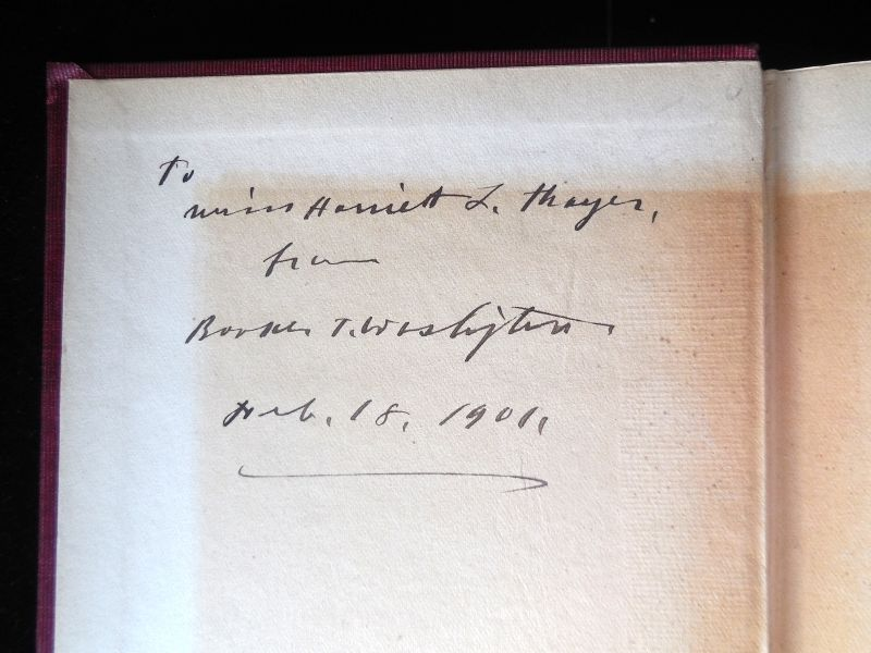 FUTURE OF THE AMERICAN NEGRO, by Booker T Washington - 1900 [Signed]