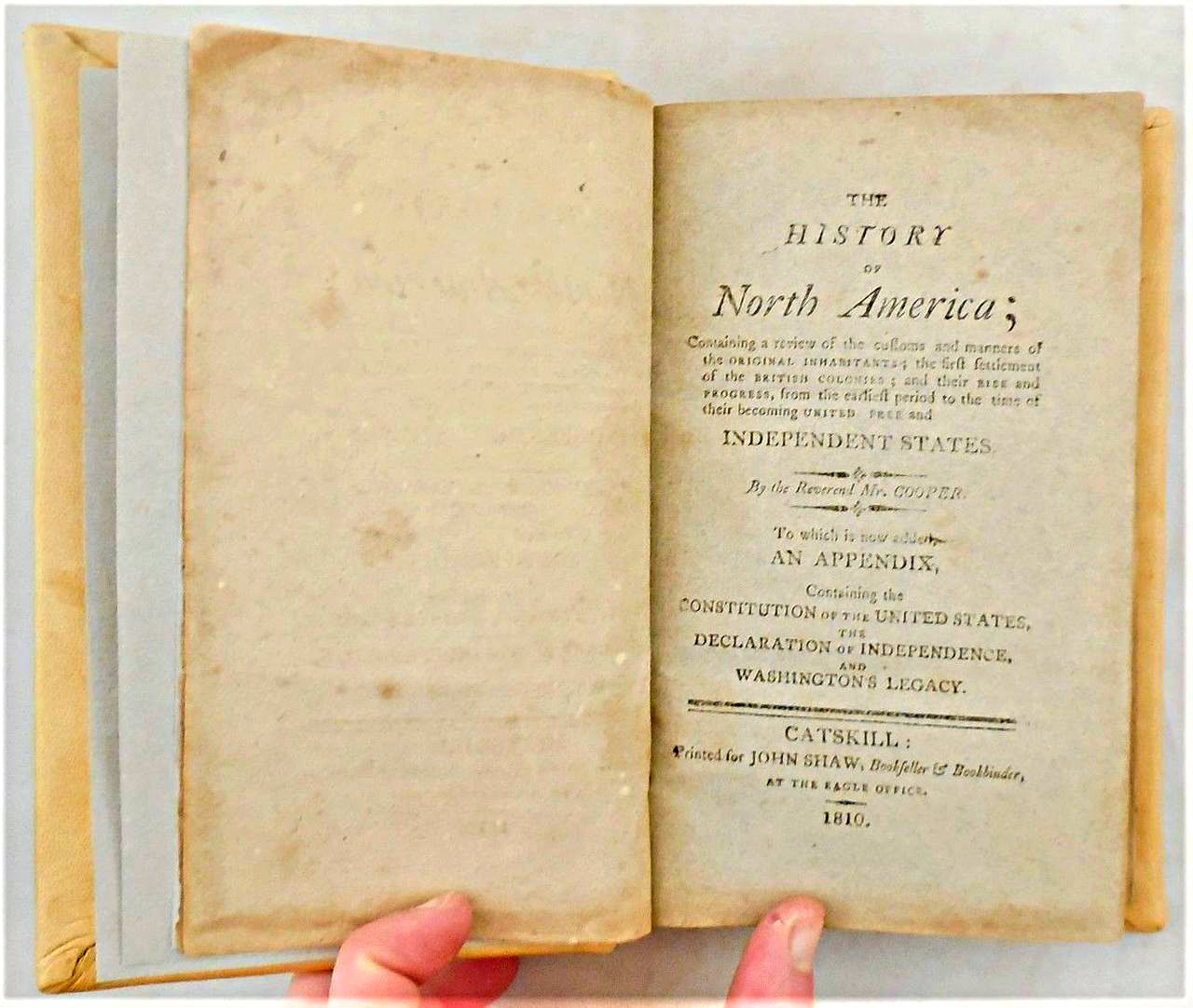 THE HISTORY OF NORTH AMERICA, by Reverend Mr W.D. Cooper - 1810