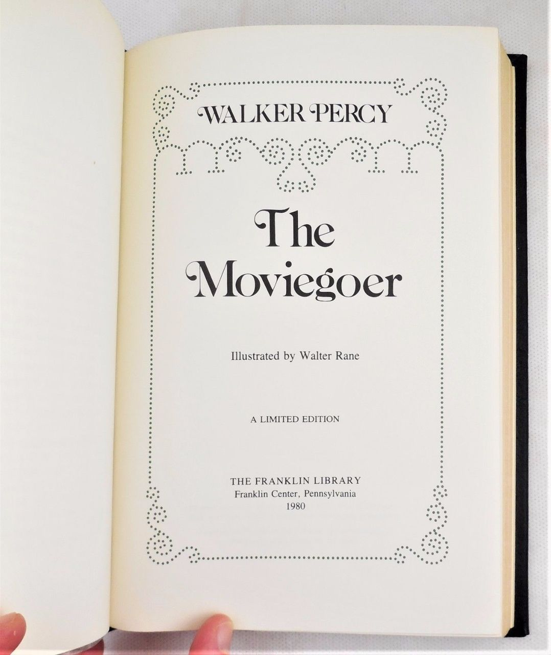 THE MOVIEGOER, by Walker Percy - 1980 [Signed, Ltd Ed]
