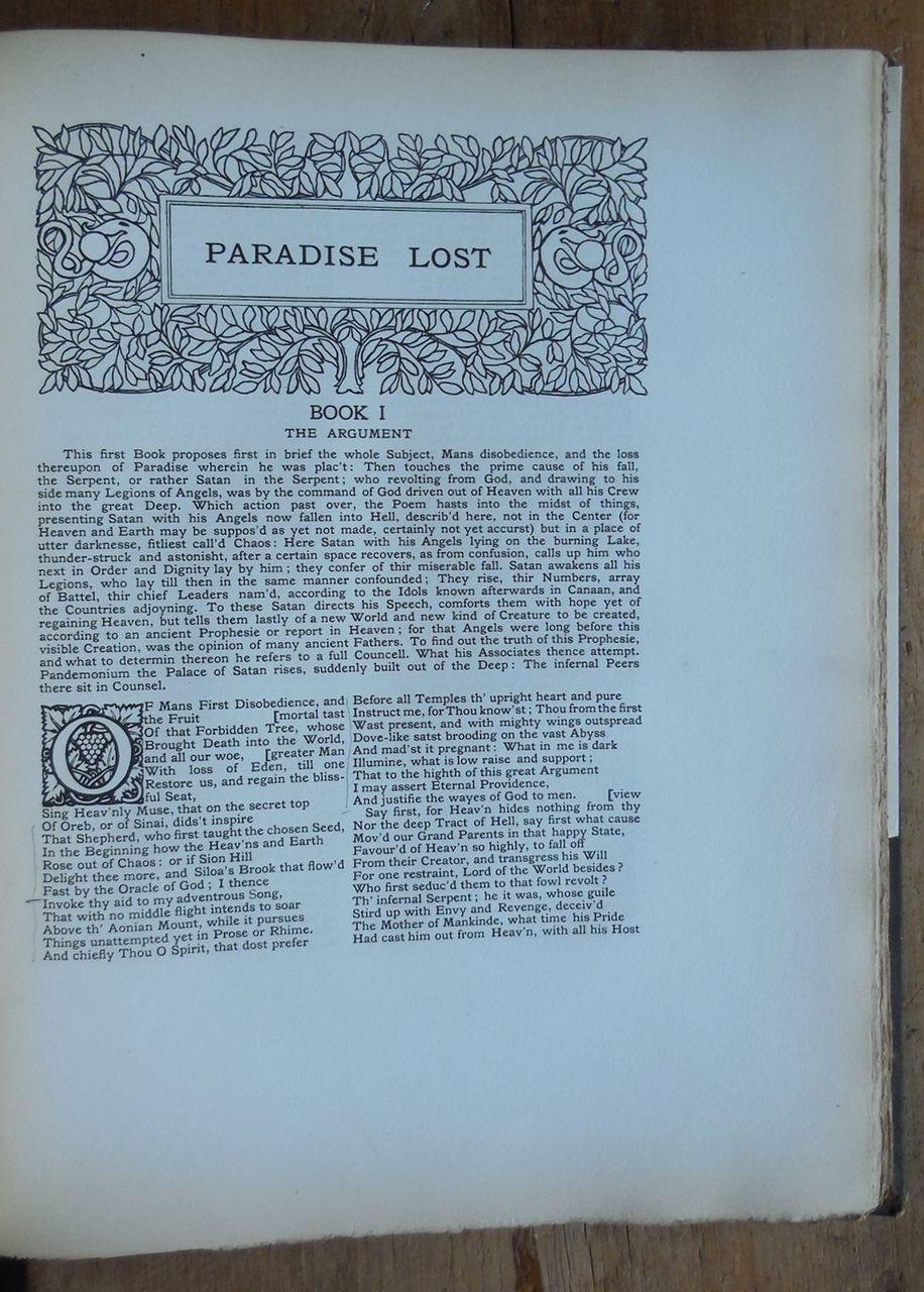 THE POETICAL WORKS OF JOHN MILTON, Etchings Mezzotints Engravings- Wm Hyde 1904