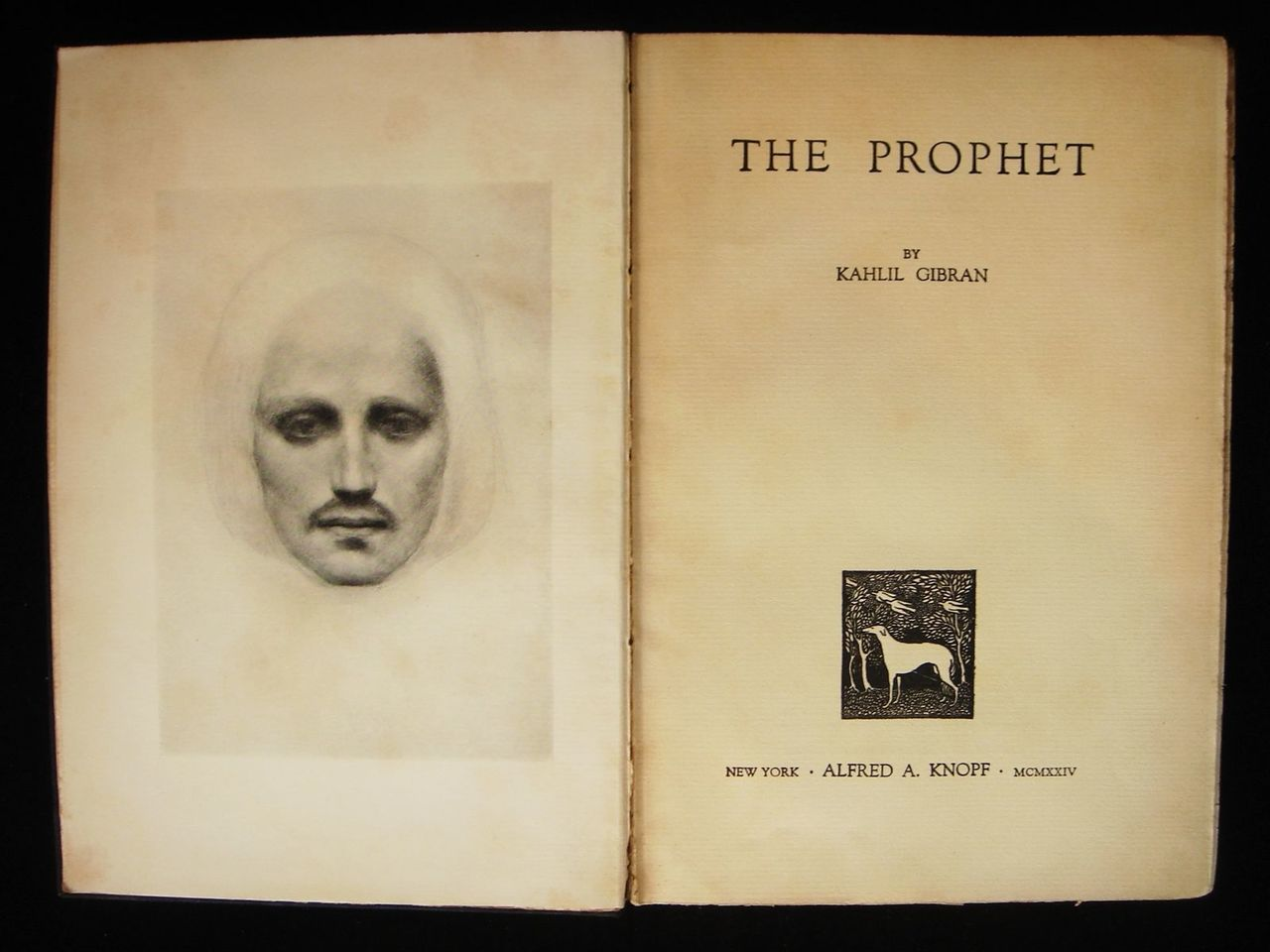 THE PROPHET, by Kahlil Gibran - 1923 [1st Ed, 2nd Print]