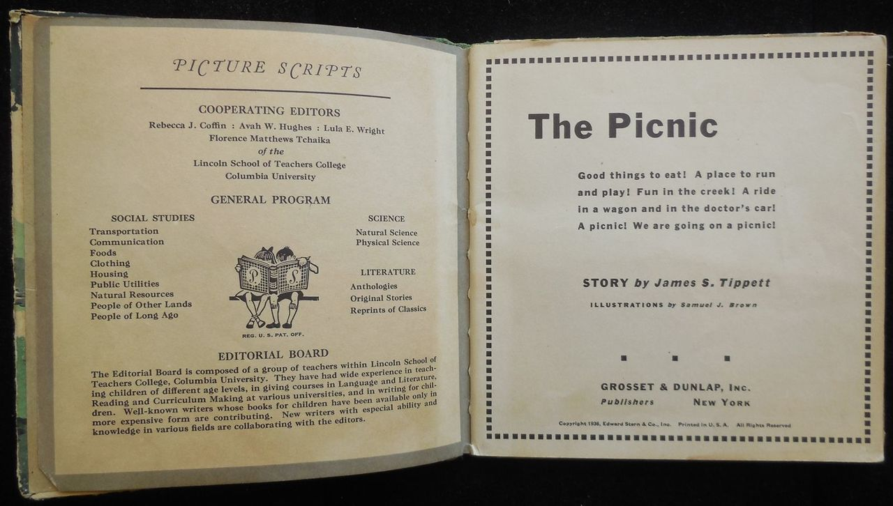 THE PICNIC, by James S. Tippett - 1936