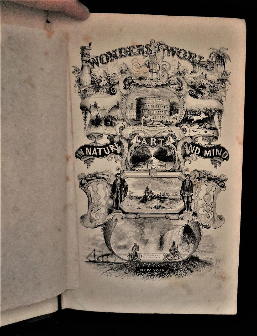 THE WONDERS OF THE WORLD, by Robert Sears - 1843