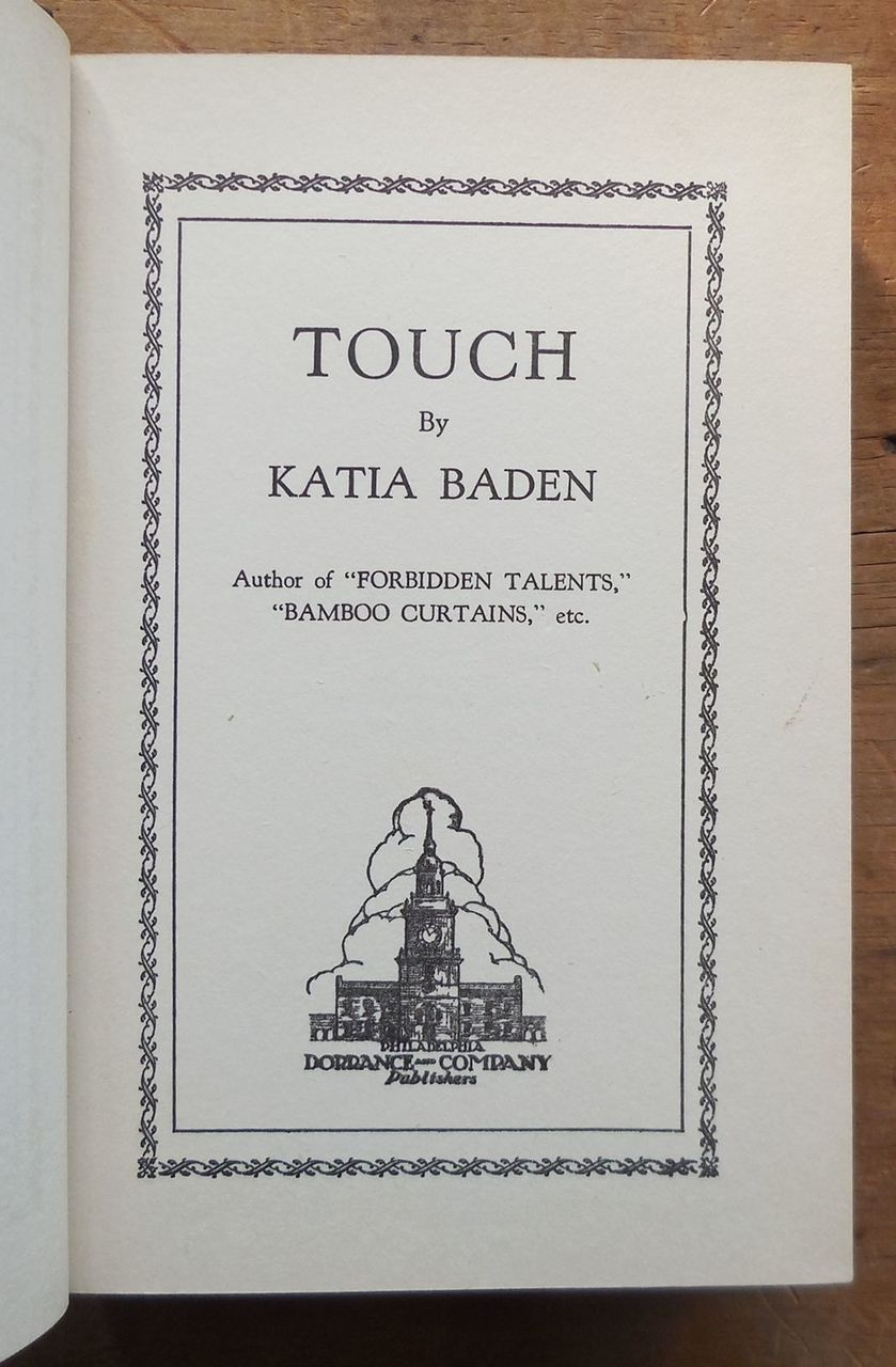 TOUCH, by Katia Baden - 1929 [SIGNED FIRST EDITION]