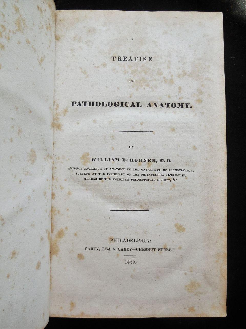 Treatise On Pathological Anatomy William E Horner 1829 1st Ed