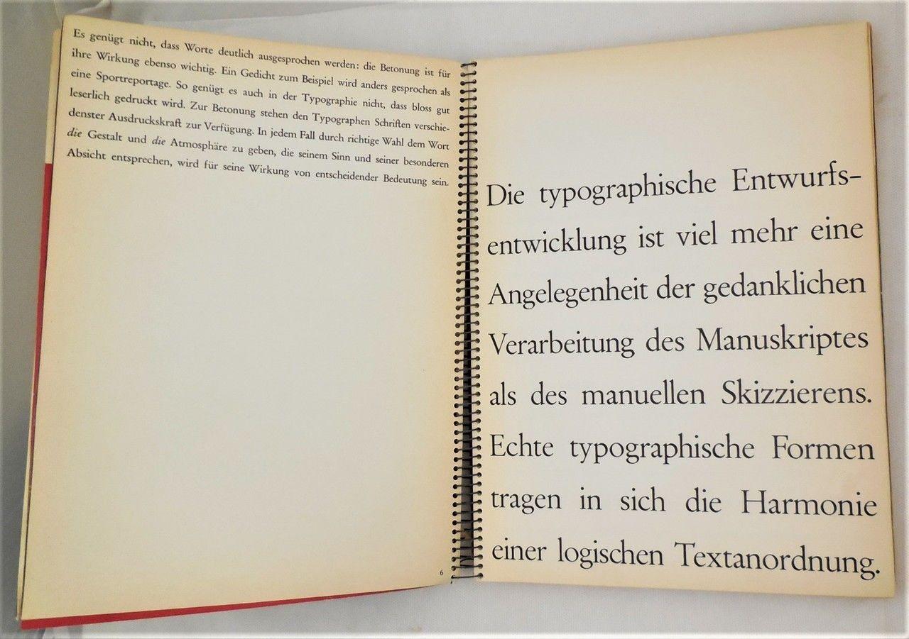 TYPOGRAPHIE, by Walter Marti - 1957