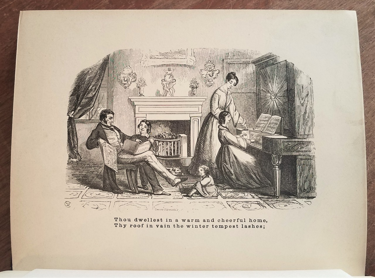 A WINTER SERMON, illustrated by David Claypoole Johnston - 1856
