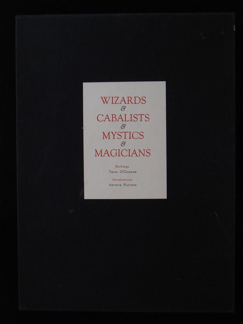 Wizards & Cabalists & Mystics & Magicians Etchings Arthur Plotnik Thom O'Conner