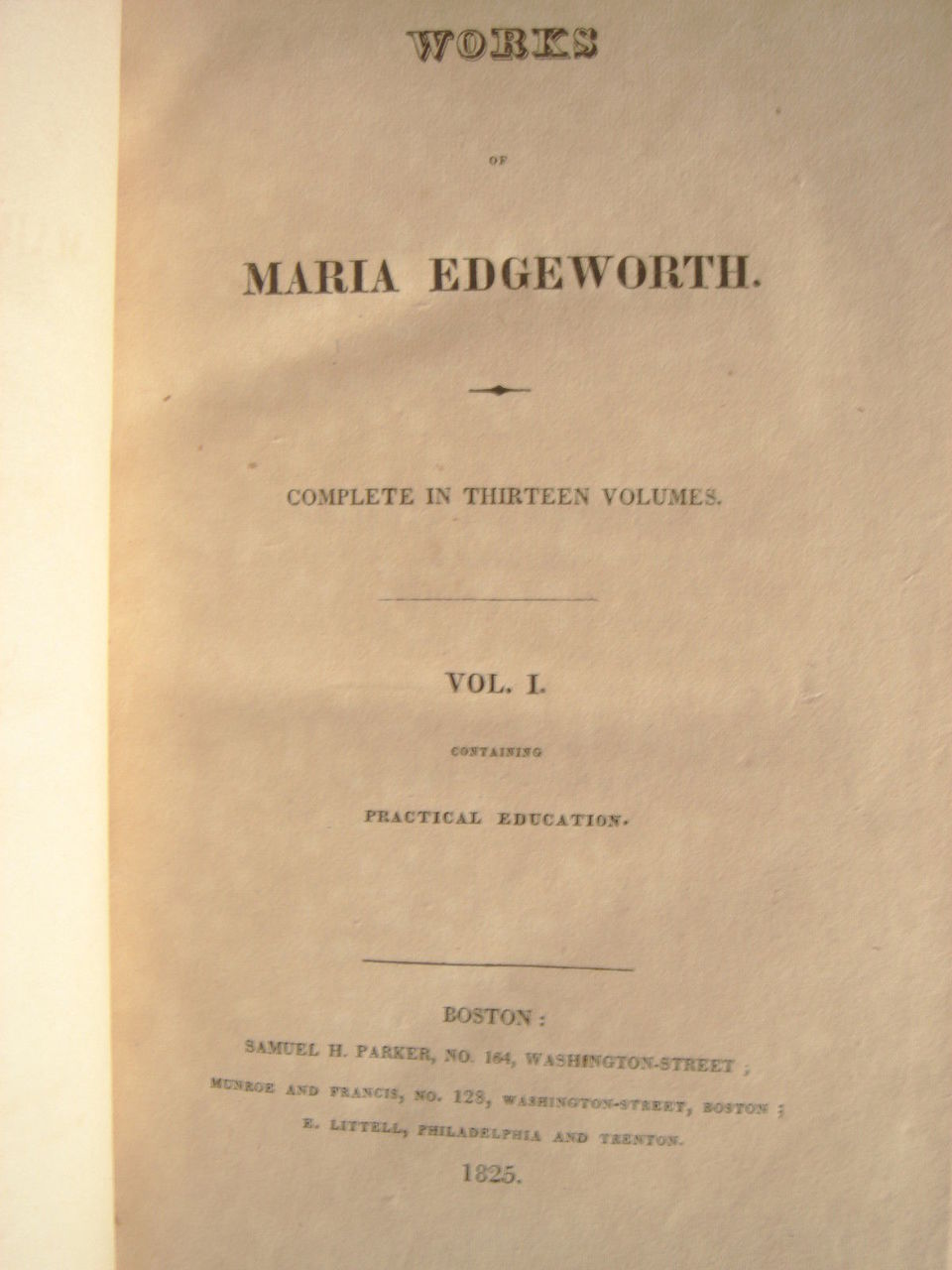 COMPLETE WORKS OF MARIA EDGEWORTH - 1825 [12 Vols]