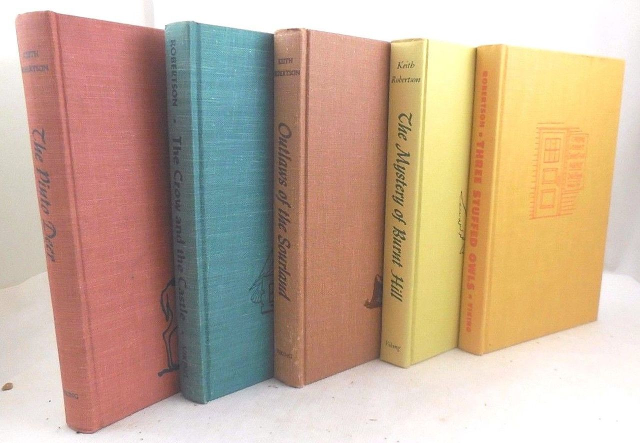 FIVE BOOKS by KEITH ROBERTSON 1953-63 [ALL Signed]