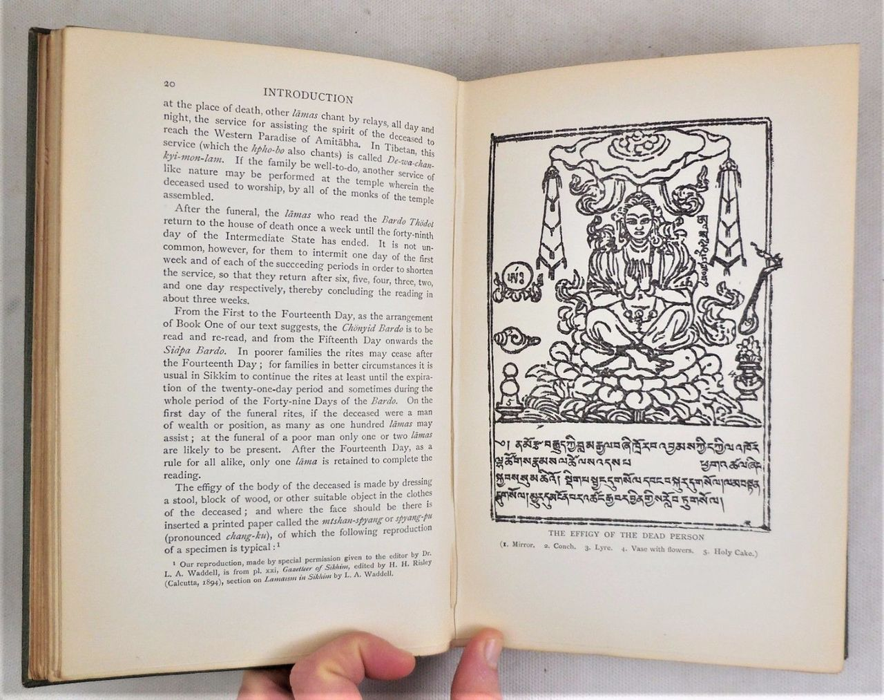 THE TIBETAN BOOK OF THE DEAD, by W.Y. Evans-Wentz (tr) - 1927 [1st Eng Ed)
