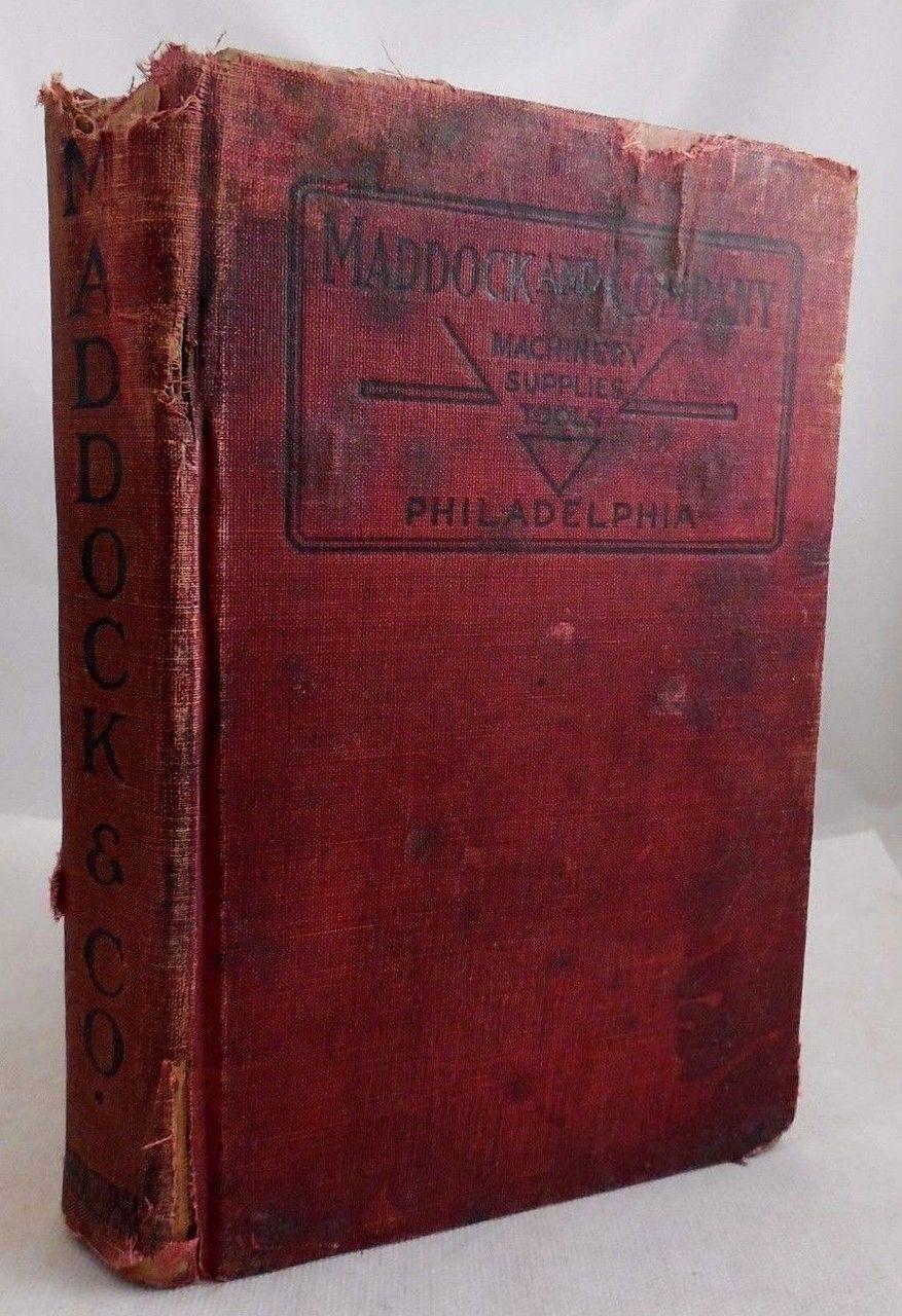 MADDOCK & COMPANY Tool Supply Catalog - 1919
