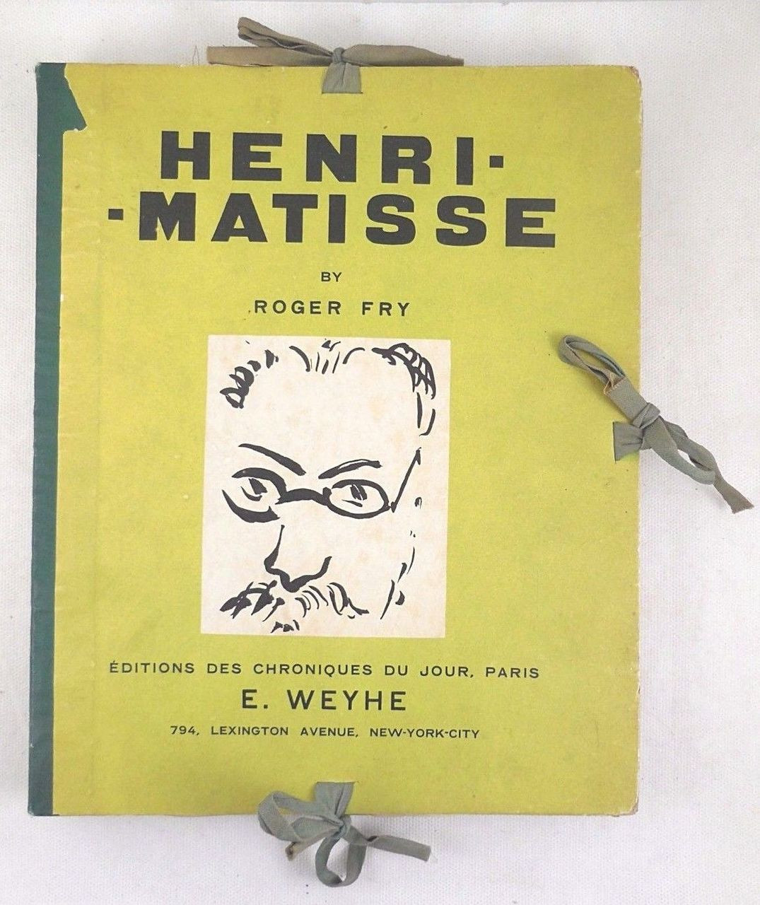 HENRI MATISSE, by Roger Fry - 1930 [French Ltd Ed, 178/650]