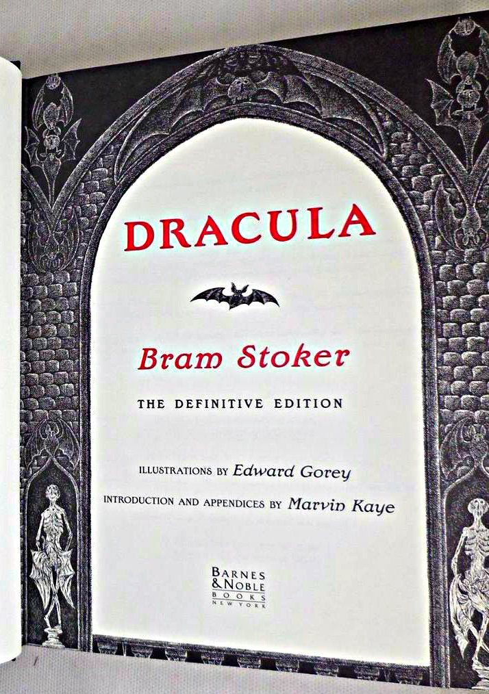 DRACULA, by Bram Stoker; Edward Gorey - 1996 [SIGNED Litho; 477/750]