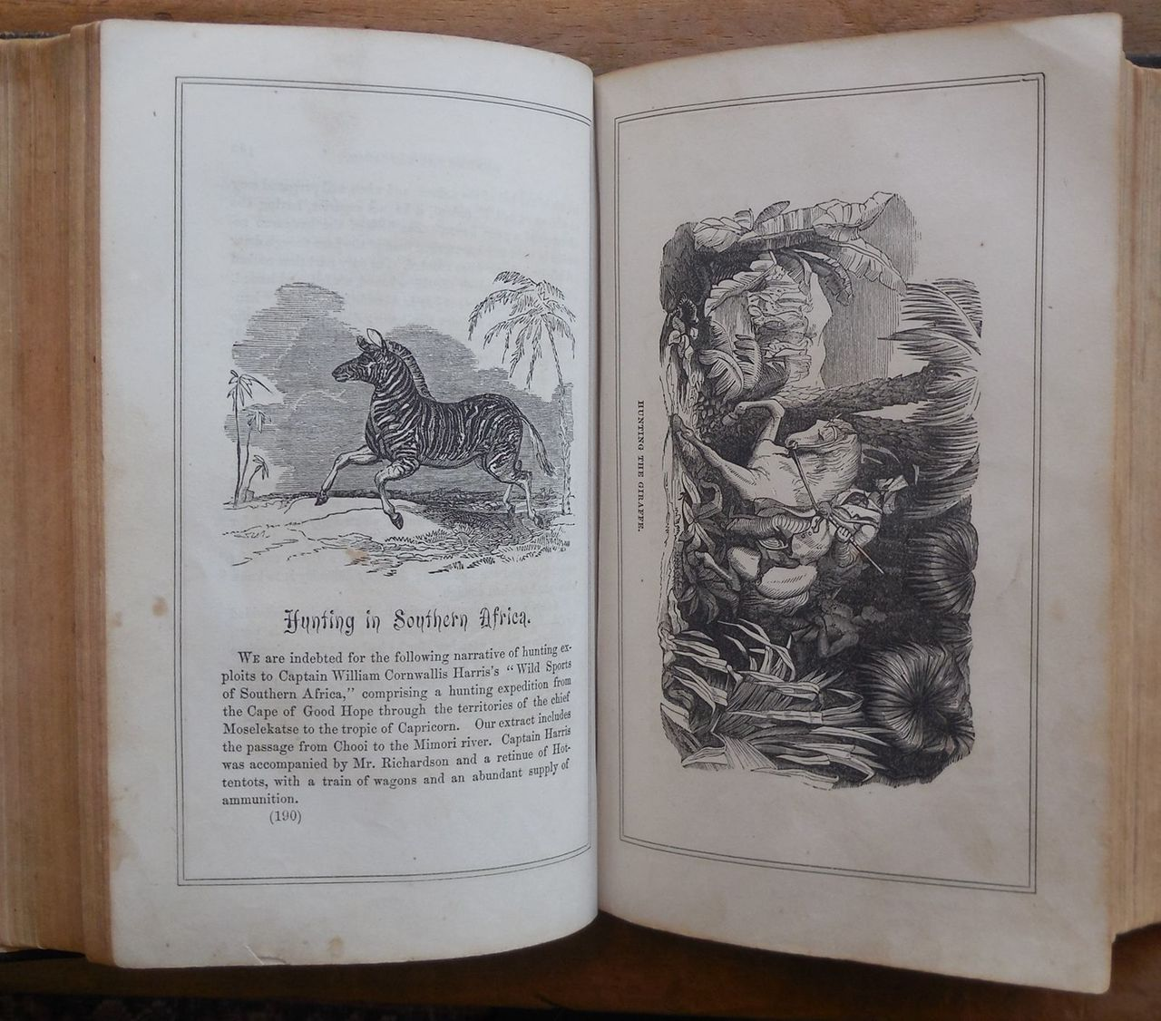 THRILLING ADVENTURES OF HUNTERS, IN THE OLD WORLD AND NEW, by Henry C. Watson - 1853