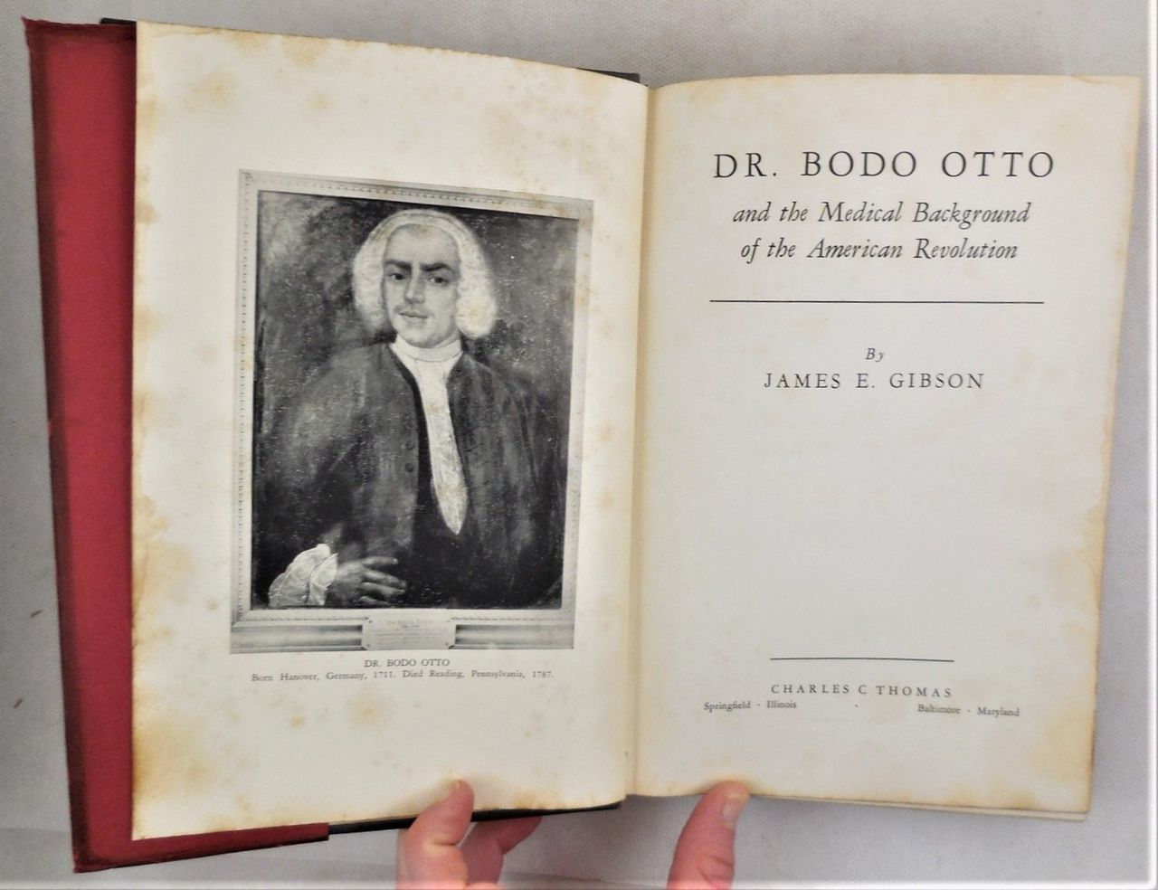 DR. BODO OTTO, by James E. Gibson - 1937 [Signed 1st Ed]