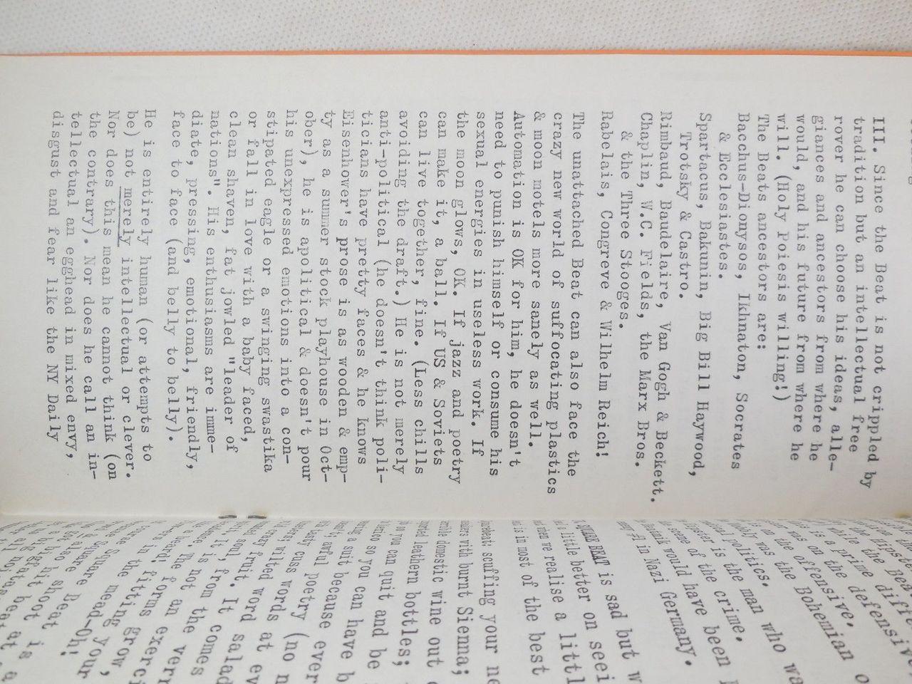 BEATING Magazine, by Tuli Kupferberg - 1959