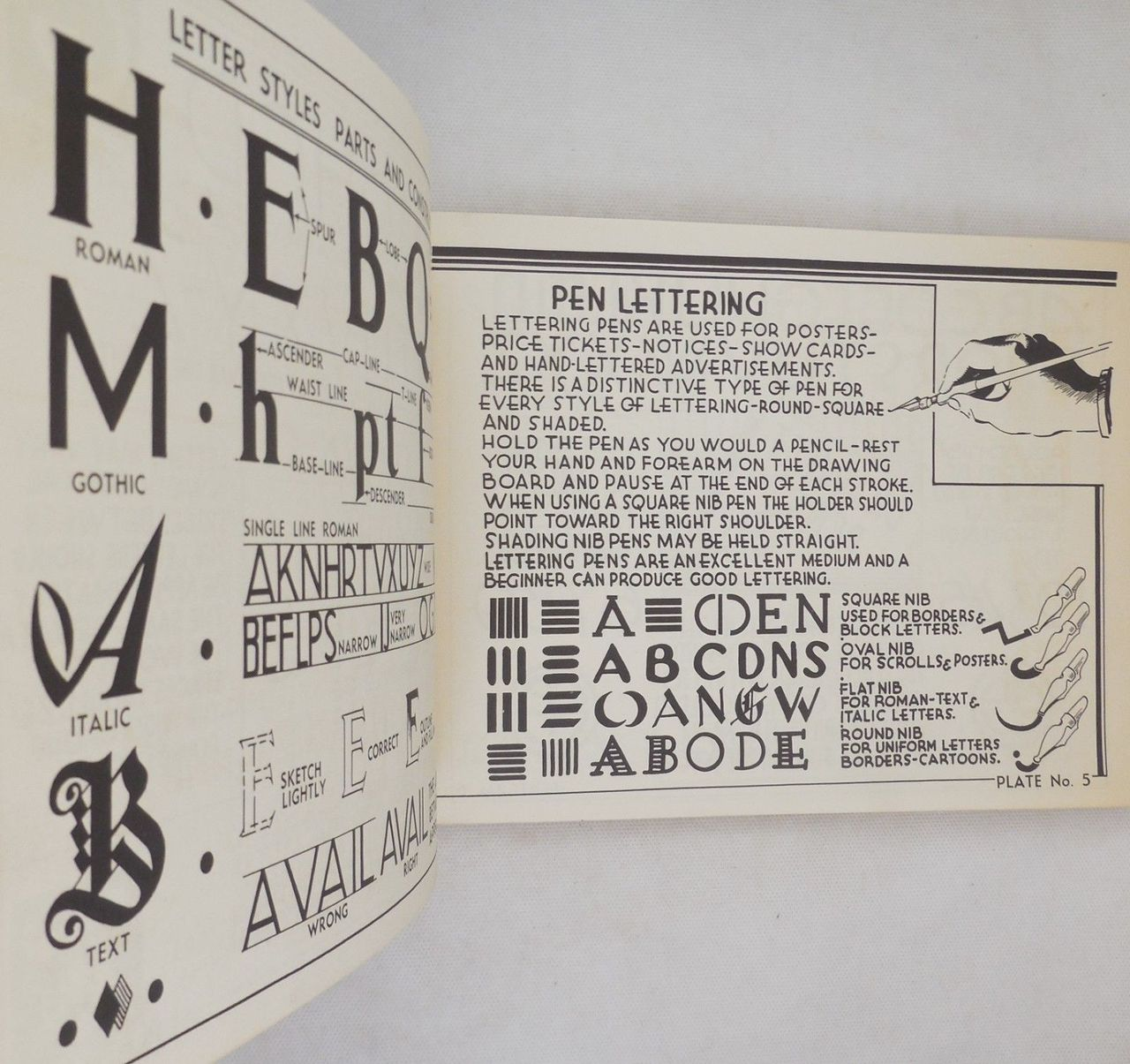 LETTERING: 60 PLATES IN A VARIETY OF ALPHABETS, by Harry B. Wright - 1950