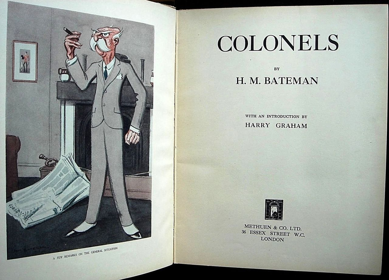 COLONELS, by H. M. Bateman - 1925