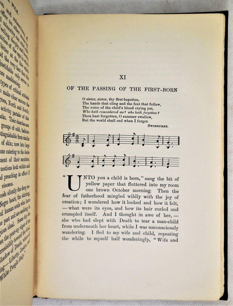 THE SOULS OF BLACK FOLK, by W.E.B. Du Bois - 1903 [true 1st]