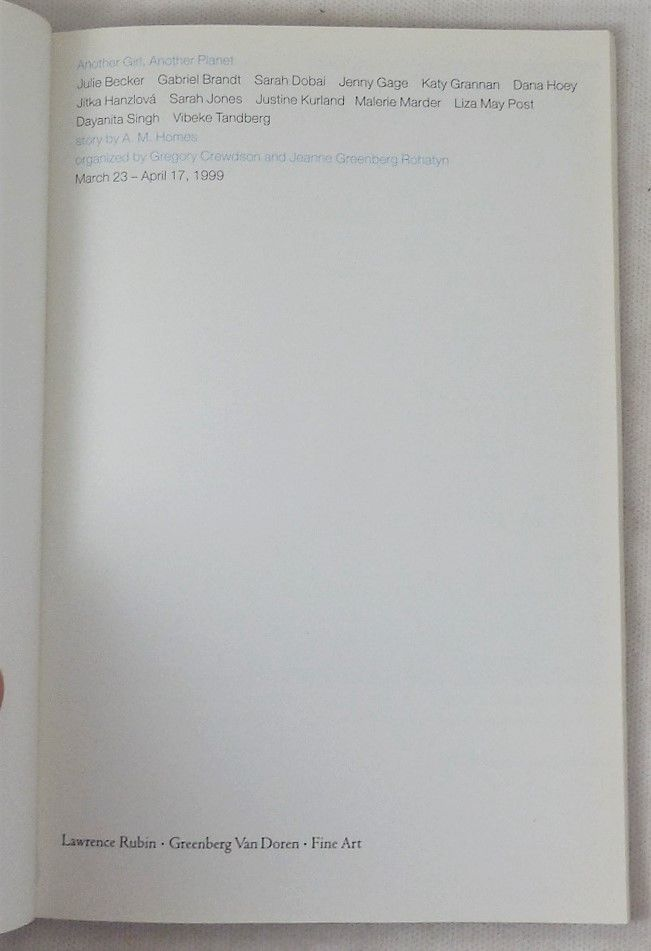 ANOTHER GIRL, ANOTHER PLANET - 1999 [1st Ed]