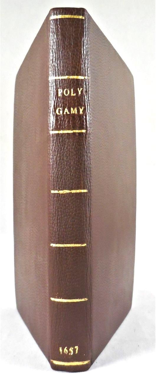 A DIALOGUE OF POLYGAMY & DIVORCE, by Bernardino Ochino -1657 [rebound]