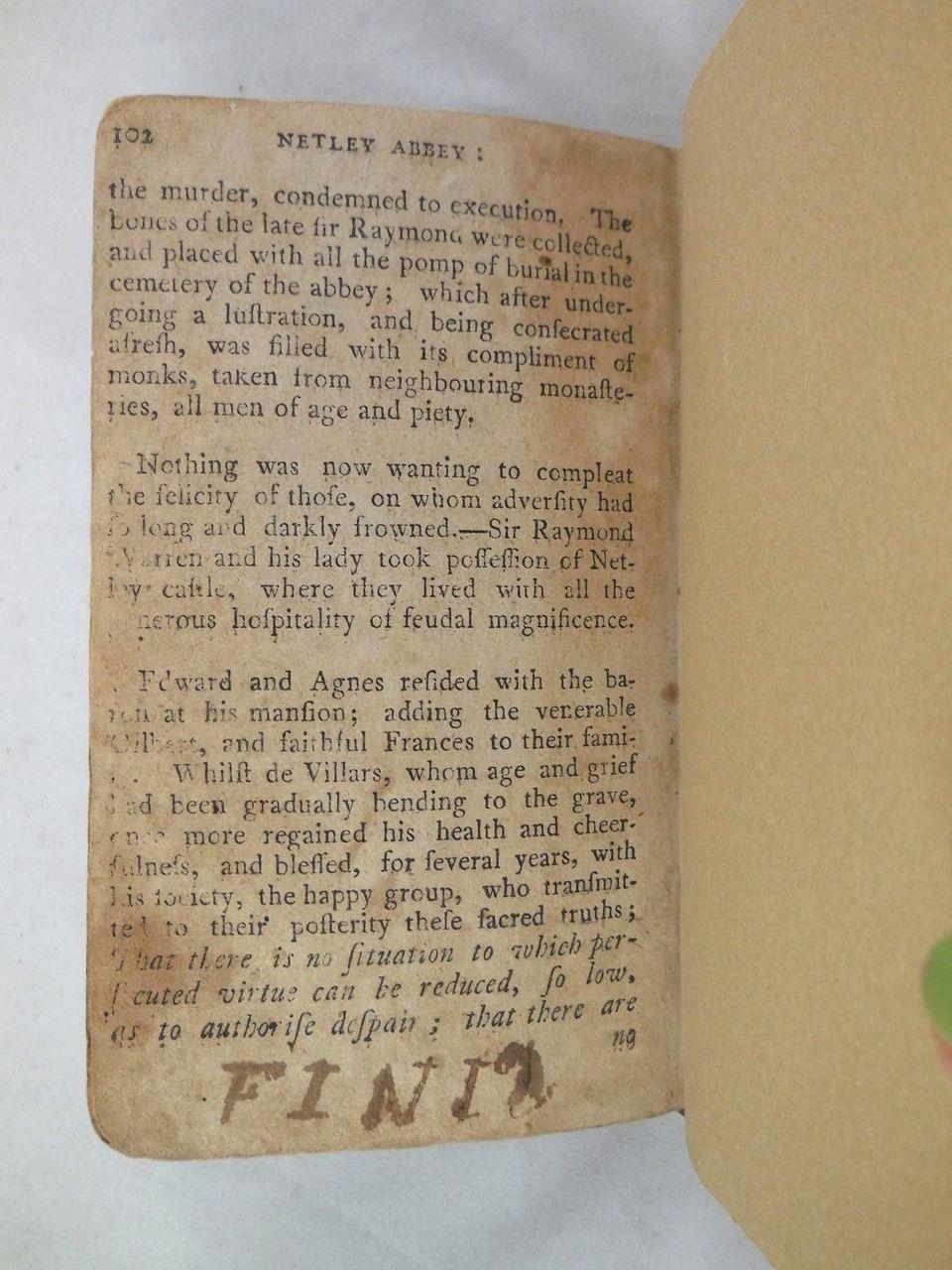 NETLEY ABBEY, A Gothic Story, by Richard Warner - 1796 [rebound]