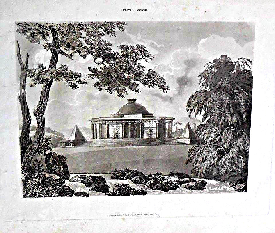SKETCHES IN ARCHITECTURE + SIX DESIGNS, by John Soane & G.J. Parkyns - 1793