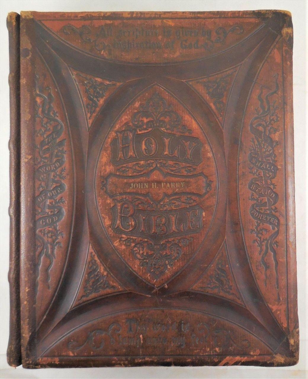THE LATEST ILLUSTRATED POLYGLOT FAMILY BIBLE - 1872 [Custom Binding]