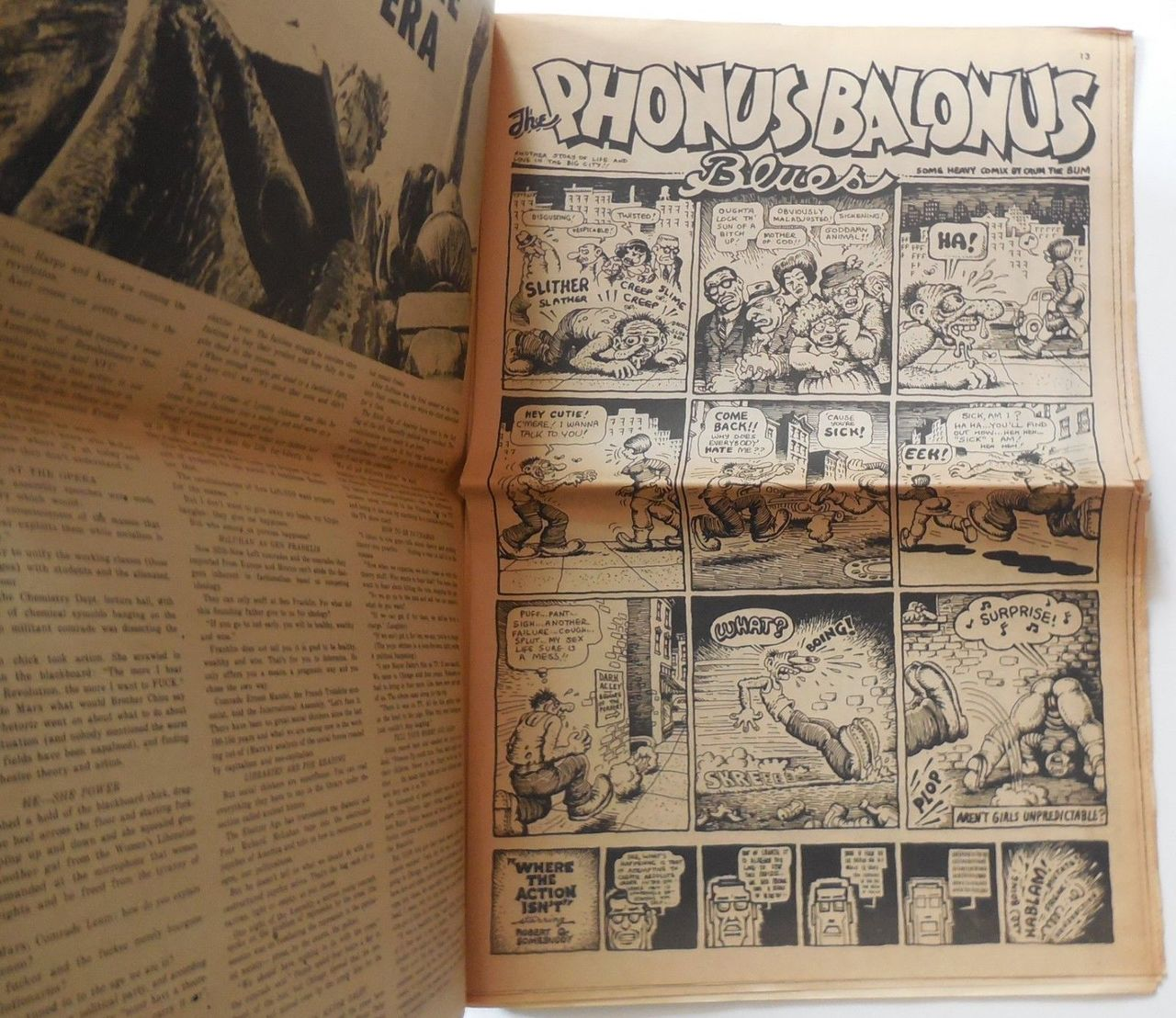 THE EAST VILLAGE OTHER v3 #43, illus by Robert Crumb  - 1968