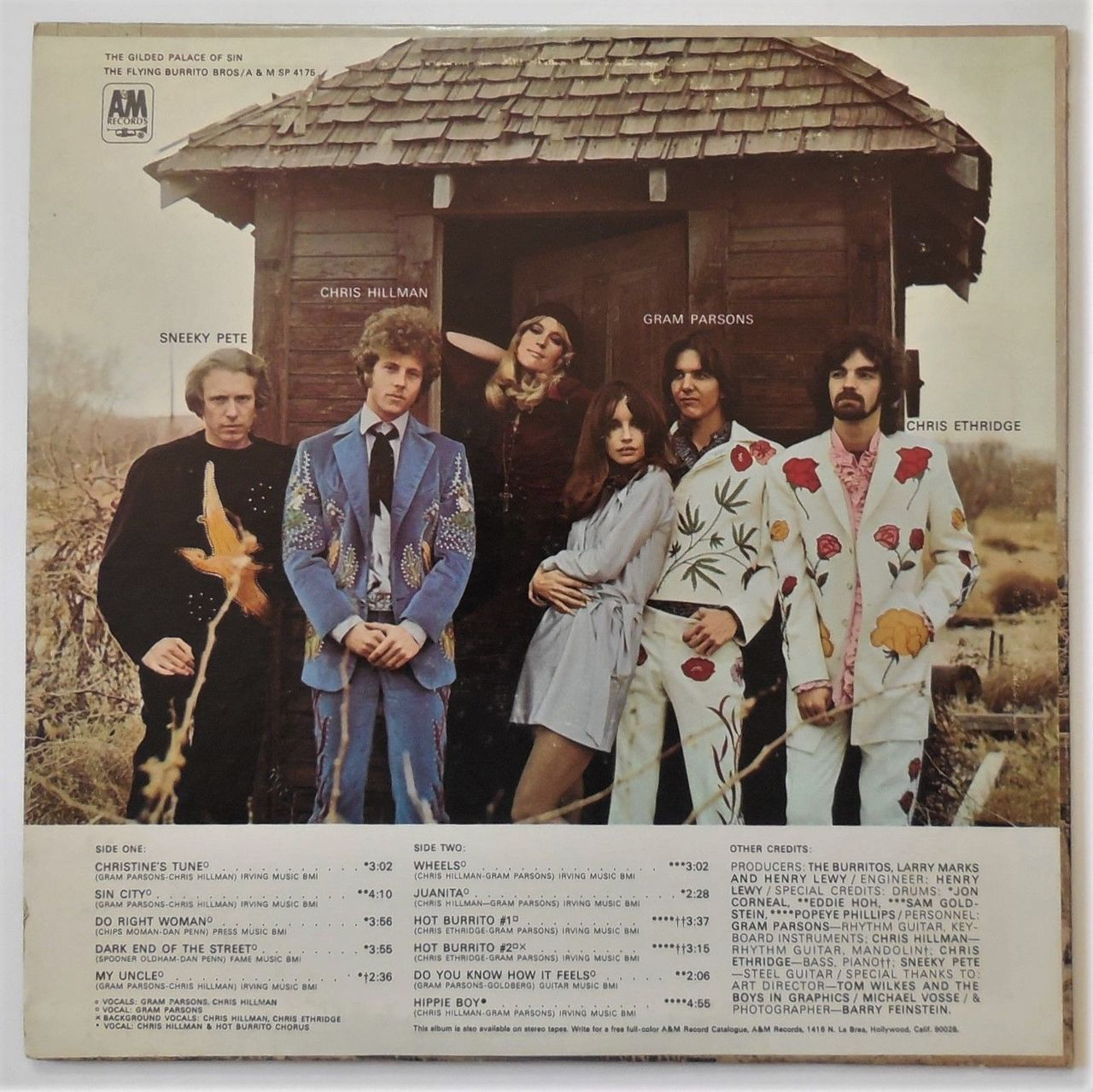 LP: The Flying Burrito Bros, on THE GILDED PALACE OF SIN - 1969