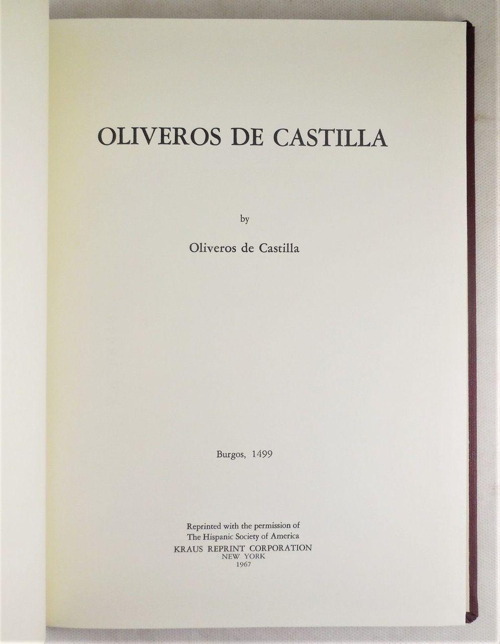 OLIVEROS DE CASTILLA - 1967 [1499 reprint]
