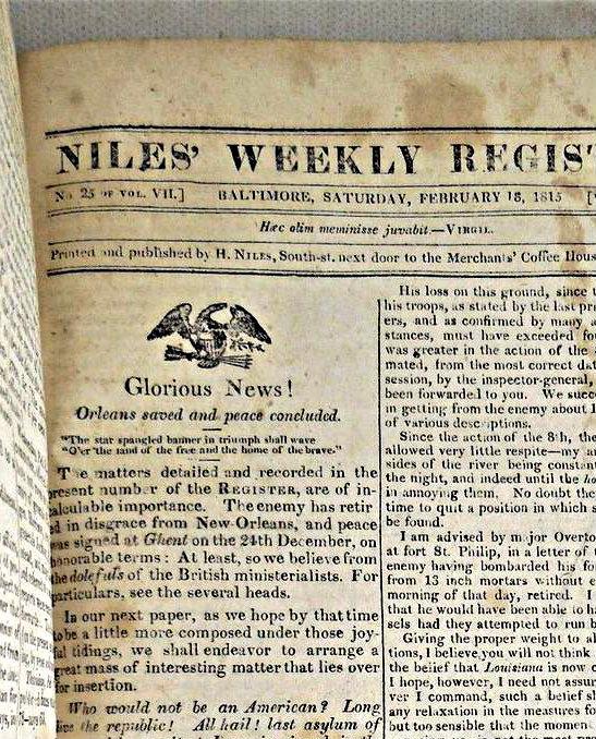 NILES' WEEKLY REGISTER  [Sept.1814 - Mar.1815 ]