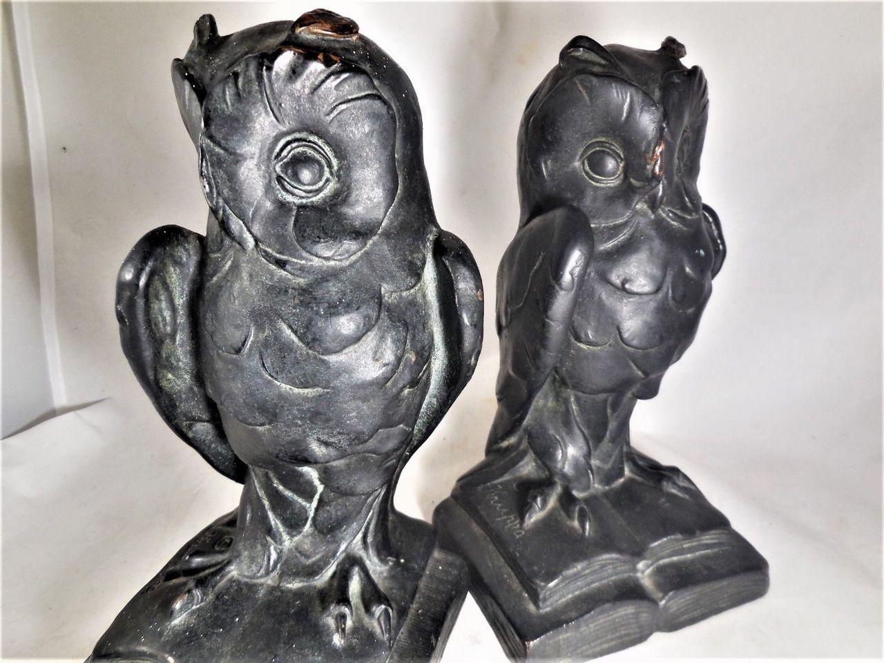 OWL BOOKENDS, by Joza Kupka - c.1912