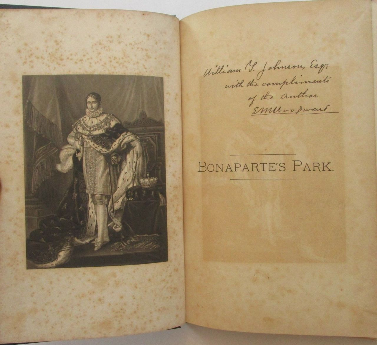 BONAPARTE'S PARK & THE MURATS, by E.M. Woodward - 1879 [SIGNED]