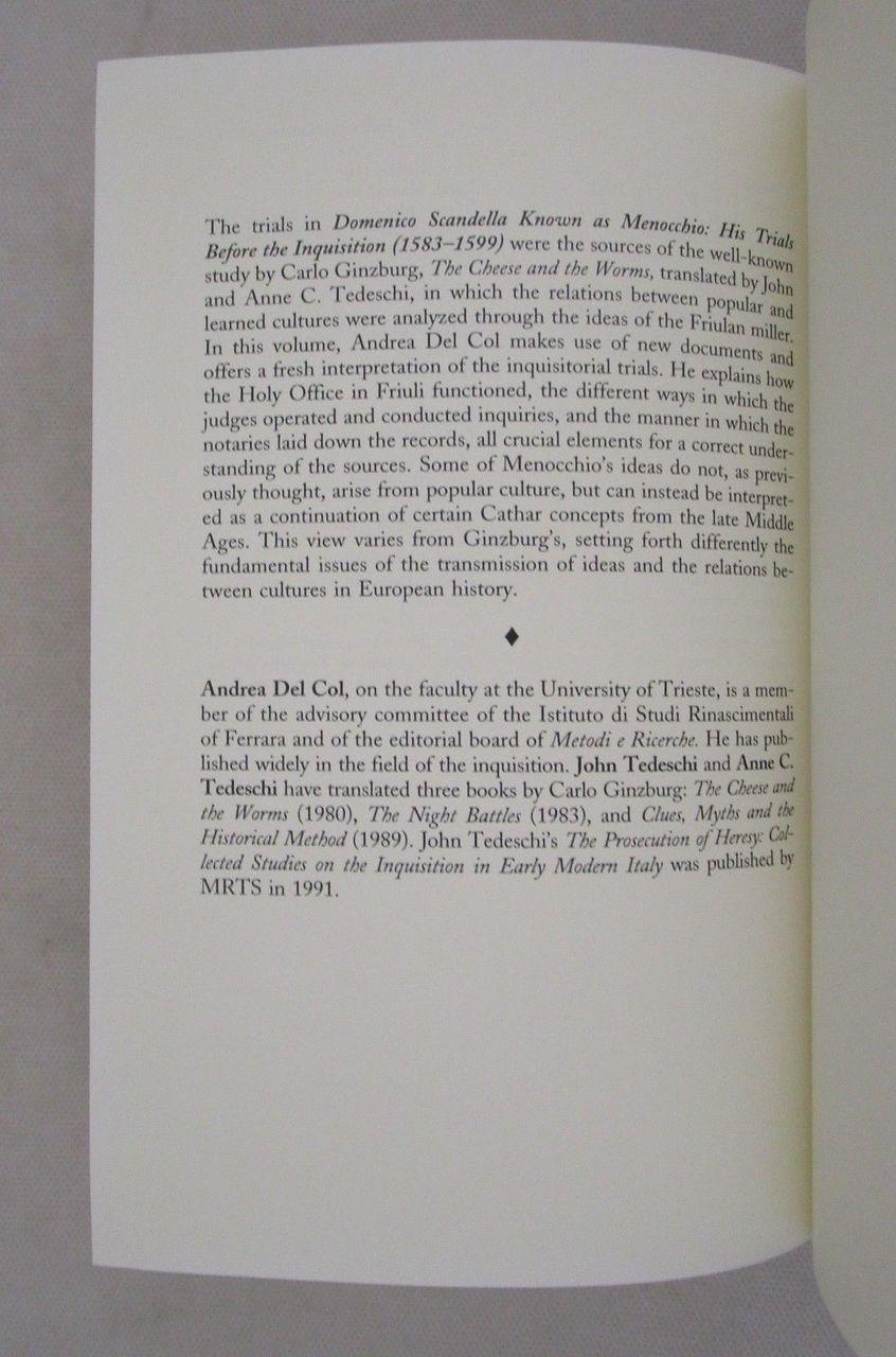 DOMENICO SCANDELLA: HIS TRIALS BEFORE THE INQUISITION, by Andrea Del Col - 1996